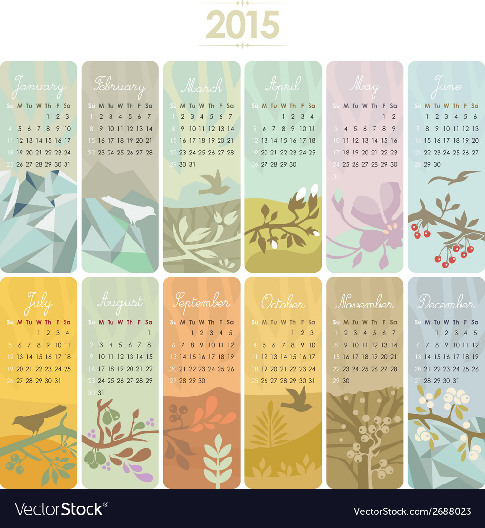 2015 calendar set vector | Price: 1 Credit (USD $1)