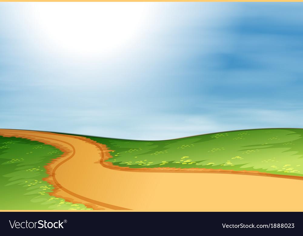 A narrow pathway vector | Price: 1 Credit (USD $1)