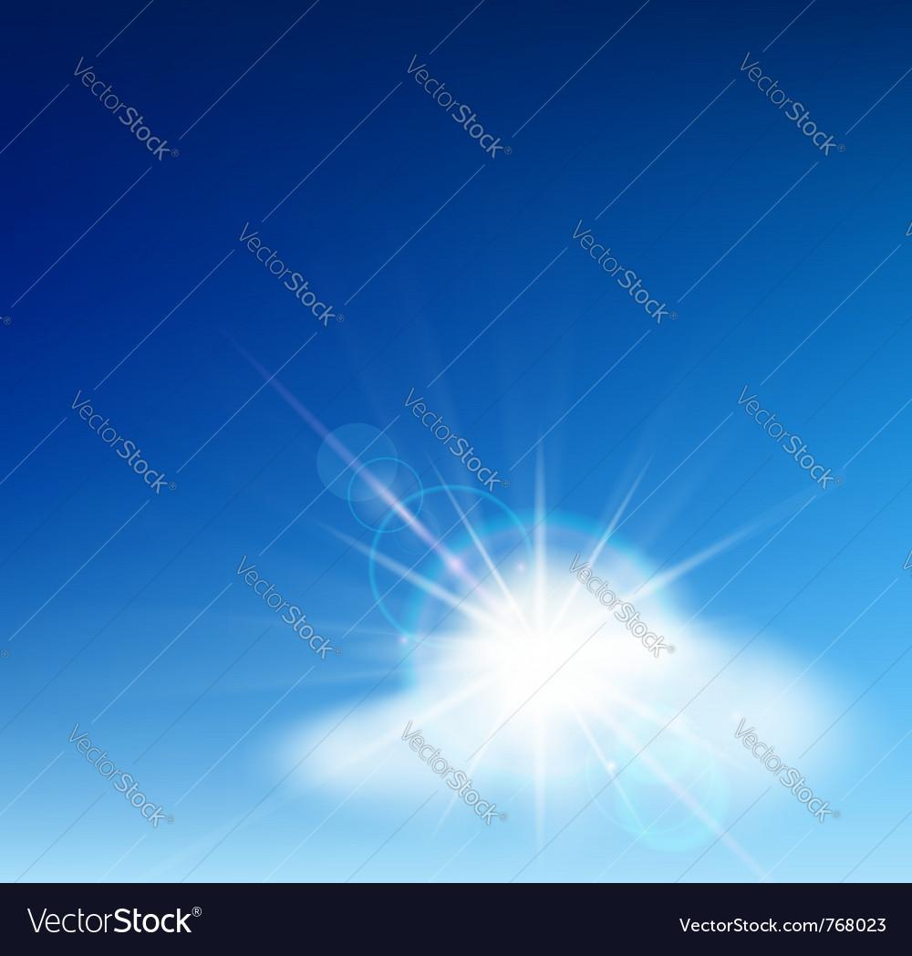 Bright blue sky vector | Price: 1 Credit (USD $1)