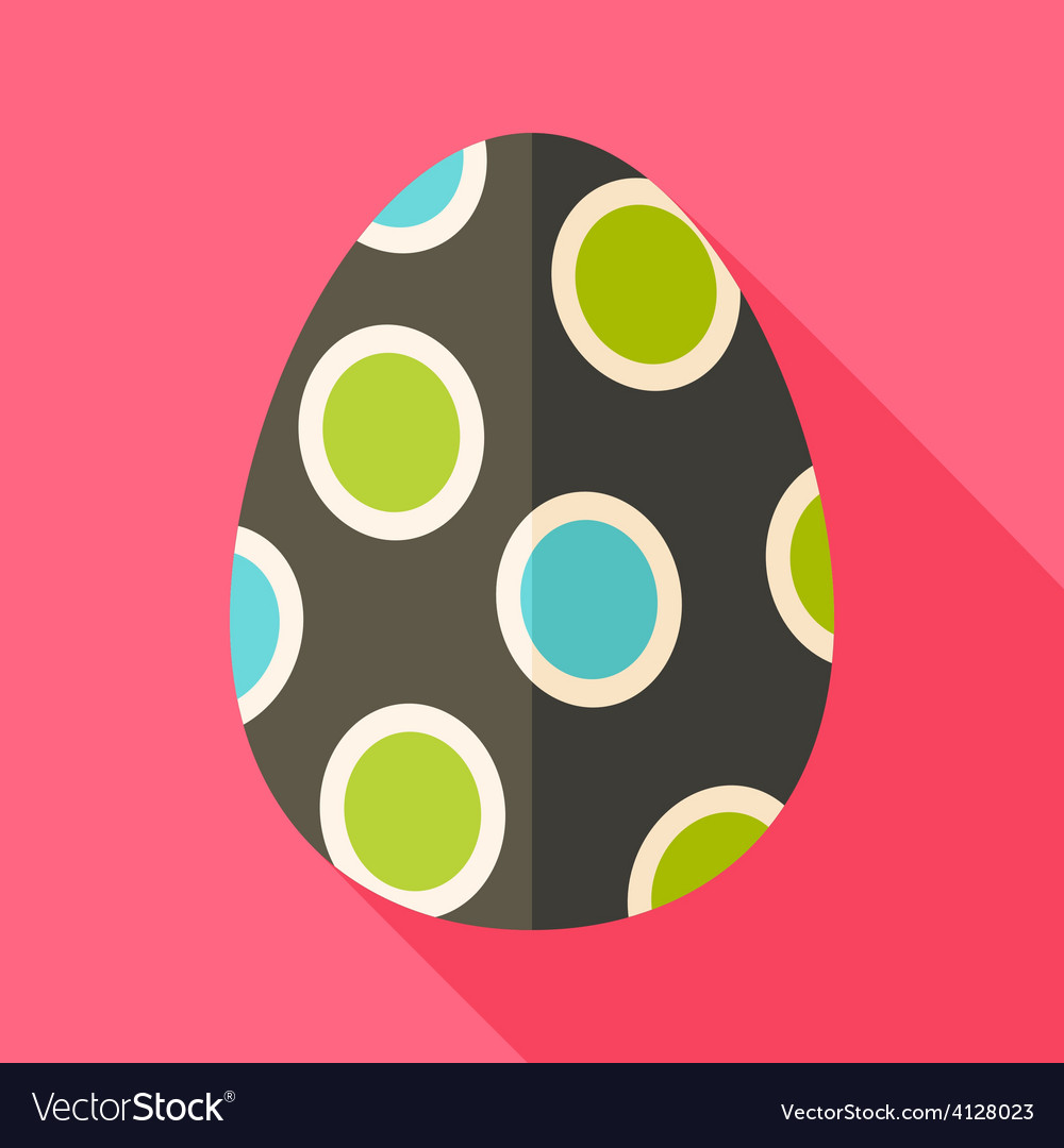 Easter egg with big circles vector | Price: 1 Credit (USD $1)