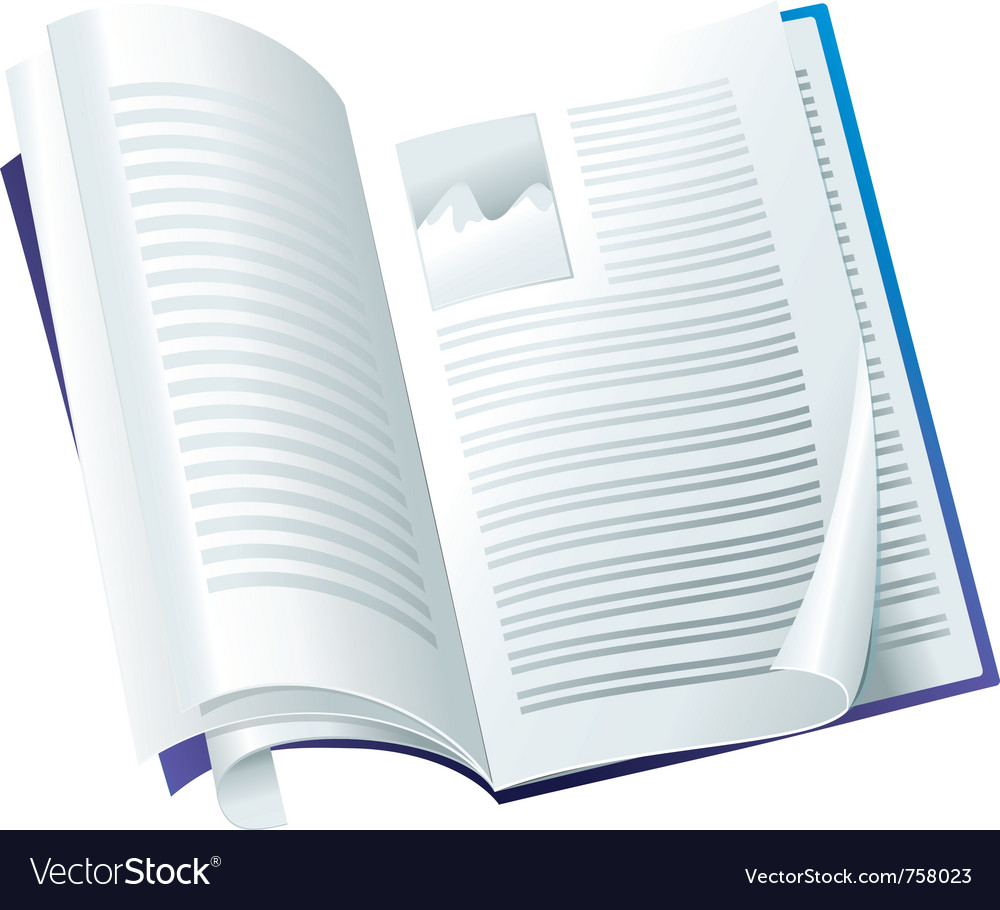 Open magazine - with folding pages vector | Price: 1 Credit (USD $1)