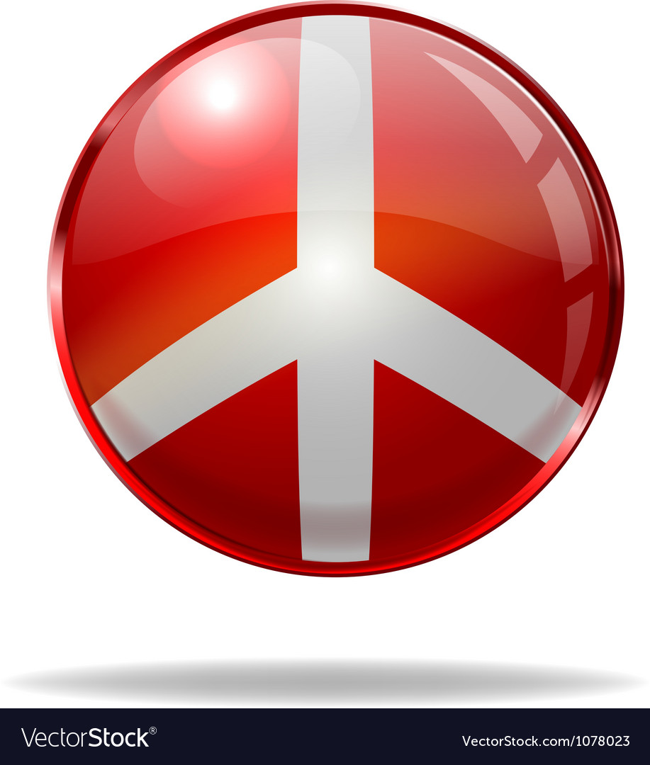 Peace button vector | Price: 1 Credit (USD $1)