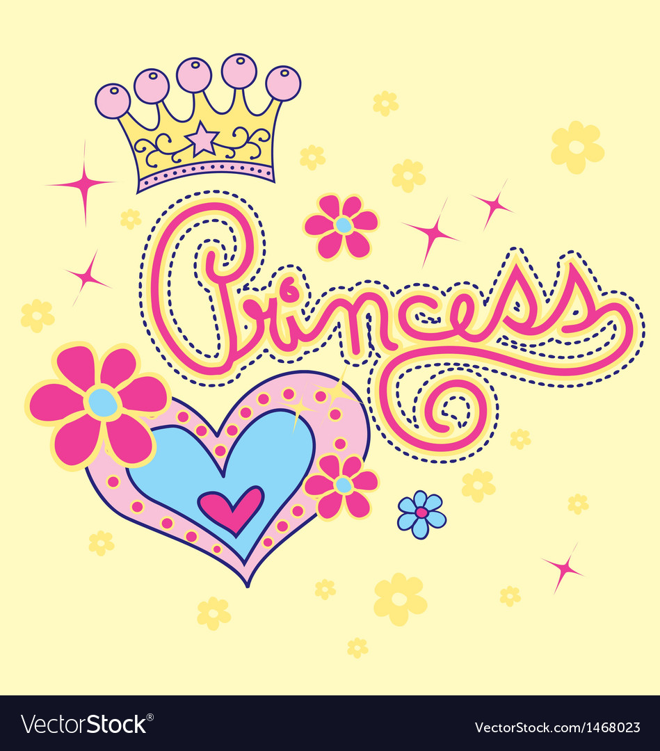 Princess and love vector | Price: 1 Credit (USD $1)