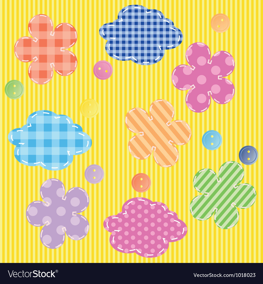 Scrapbooking elements seamless pattern vector | Price: 1 Credit (USD $1)