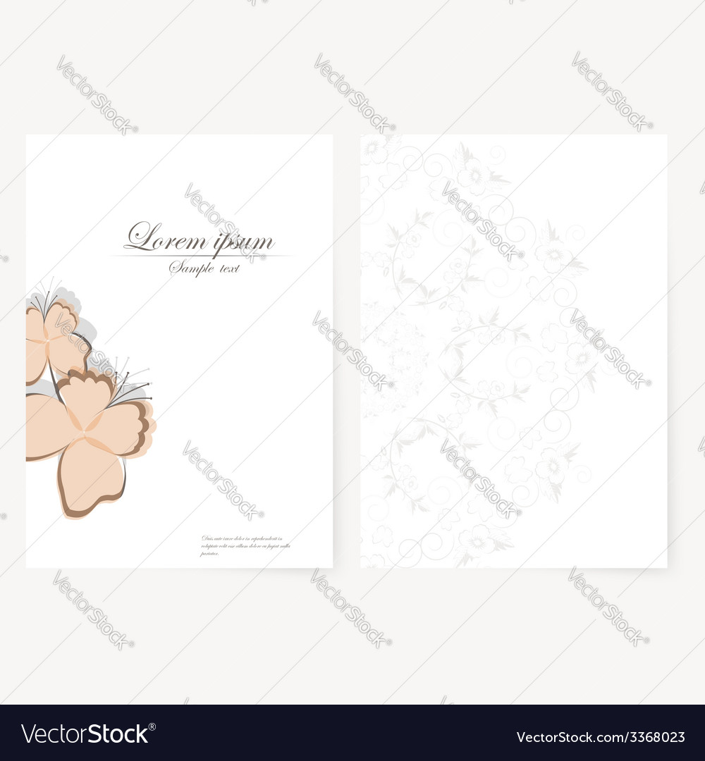 Template for folder business card and invitation vector   Price: 1 Credit (USD $1)