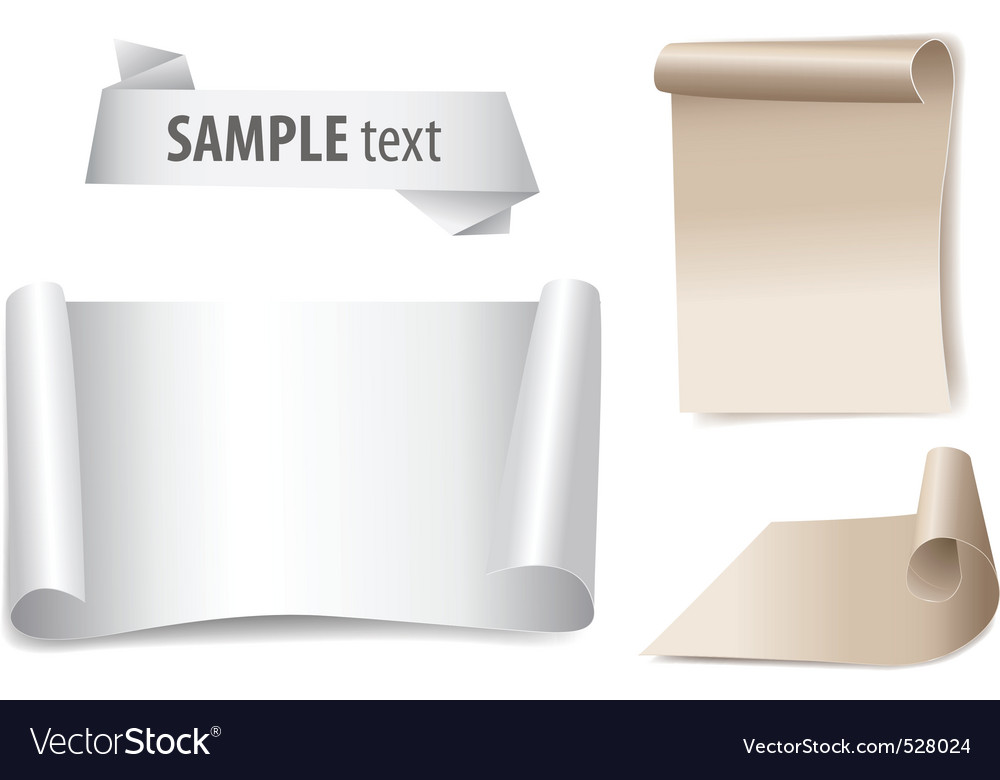Bland paper with page curl vector   Price: 1 Credit (USD $1)