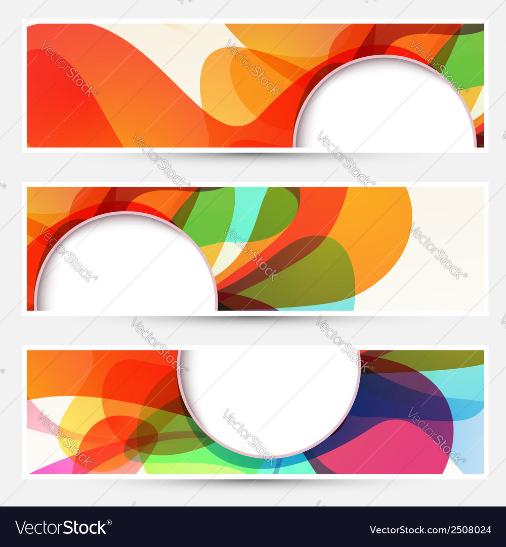 Bright liquid flow colorful banners set vector | Price: 1 Credit (USD $1)