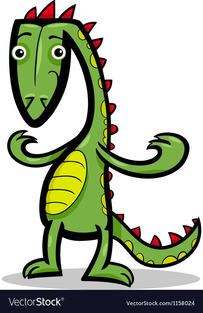 Cartoon of lizard or dinosaur vector | Price: 1 Credit (USD $1)