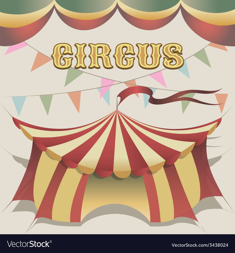Circus tent vector | Price: 1 Credit (USD $1)