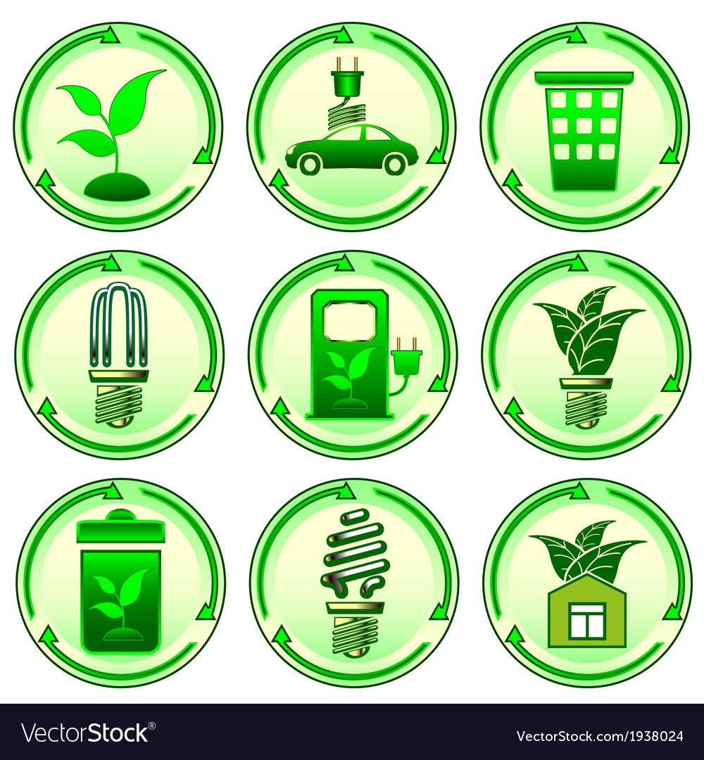 Environmental icons vector | Price: 1 Credit (USD $1)
