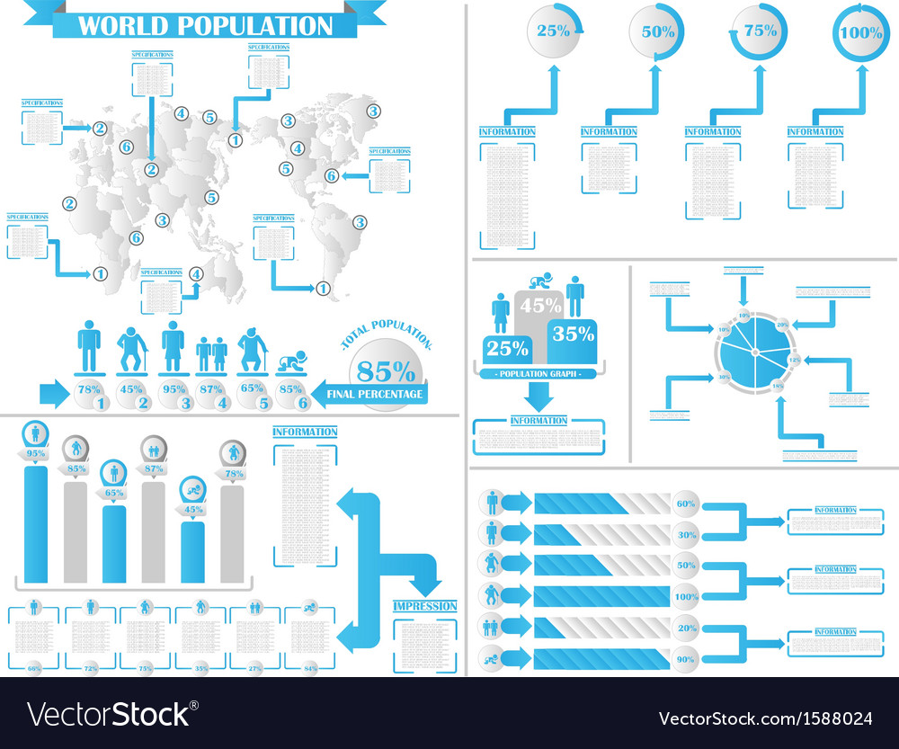 Infographic demographics 4 vector | Price: 1 Credit (USD $1)