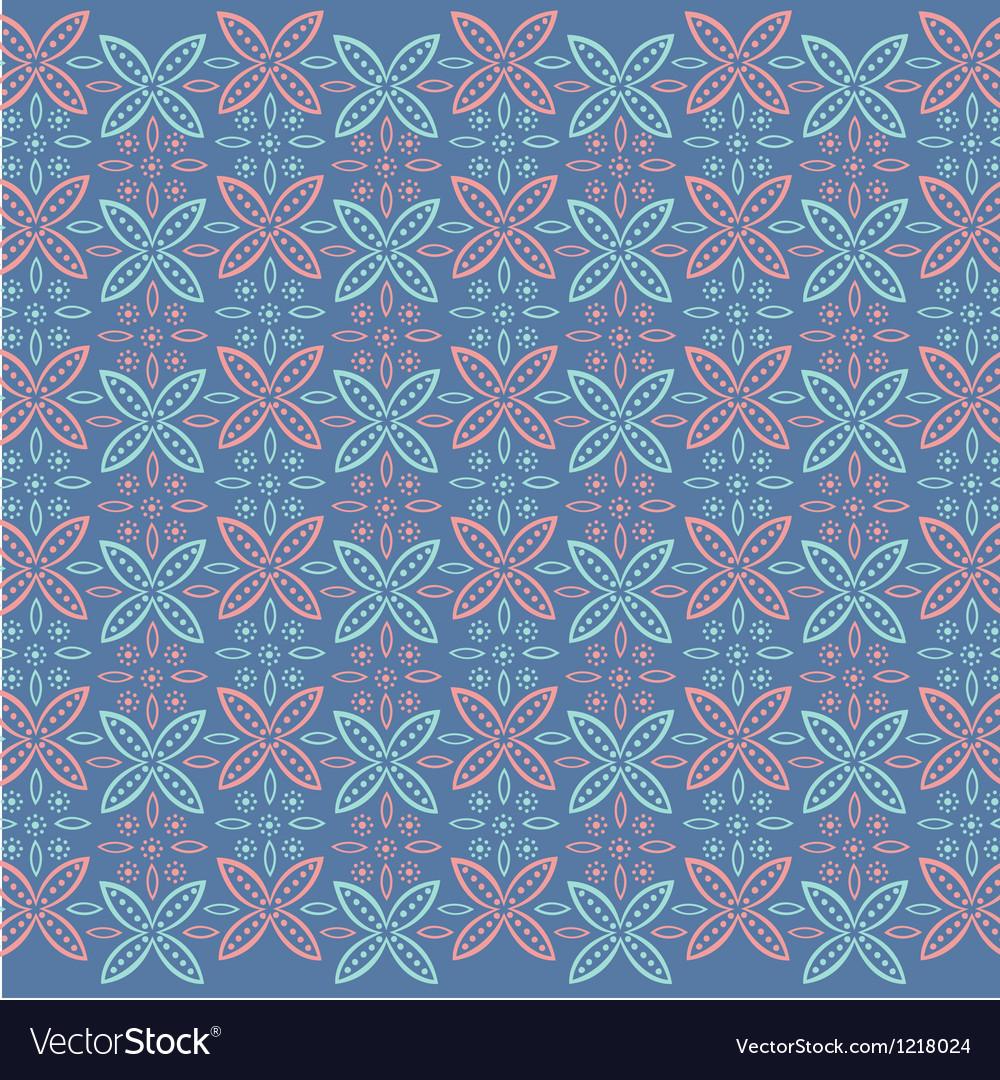 Javanese floral pattern vector | Price: 1 Credit (USD $1)