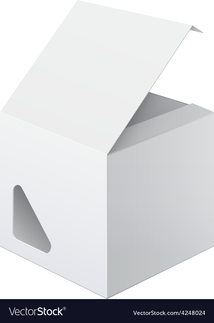 Light realistic package cardboard box vector | Price: 1 Credit (USD $1)