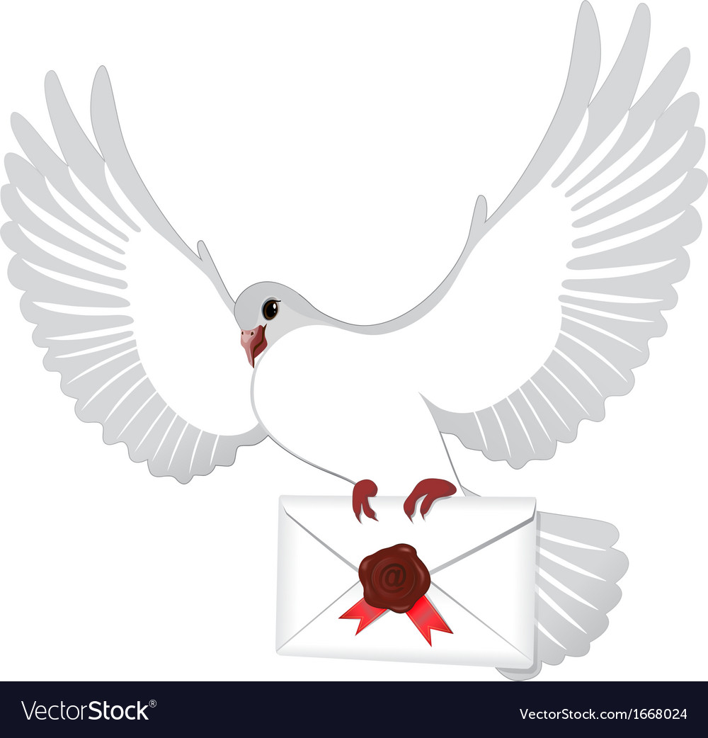 Mail pigeon vector | Price: 1 Credit (USD $1)