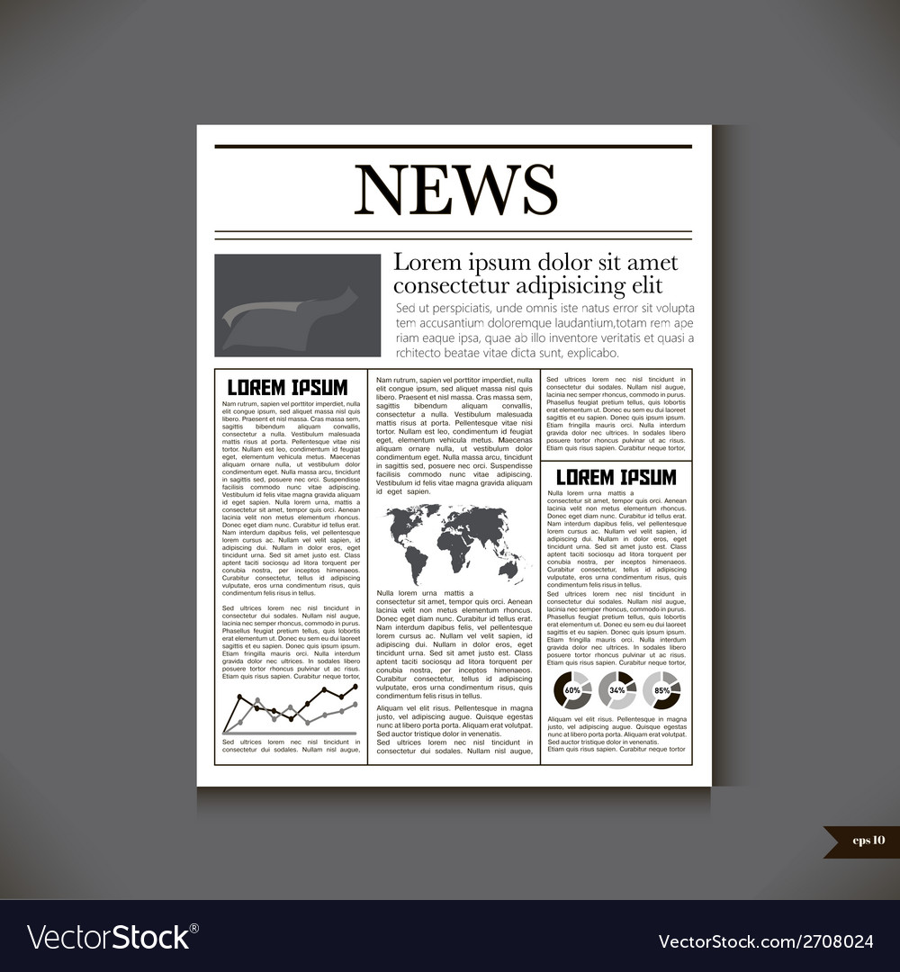 The newspaper with a headline news vector | Price: 1 Credit (USD $1)