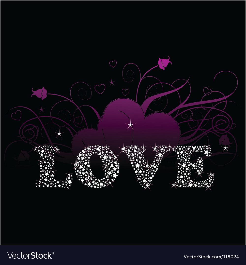 Shining love vector | Price: 1 Credit (USD $1)