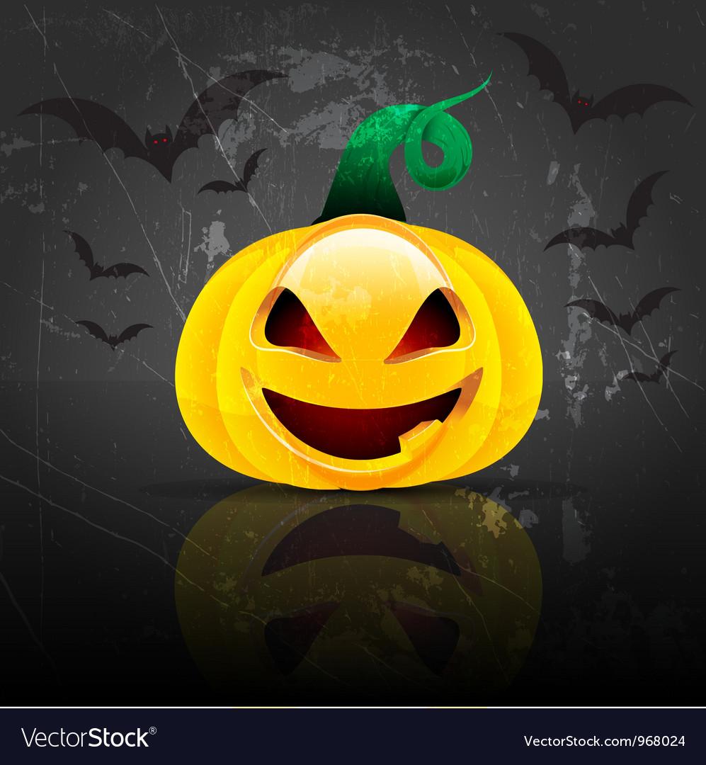 Spooky halloween pumpkin vector | Price: 1 Credit (USD $1)
