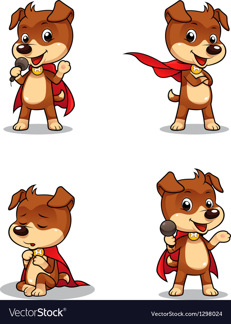 Superhero puppy dog 01 vector | Price: 1 Credit (USD $1)
