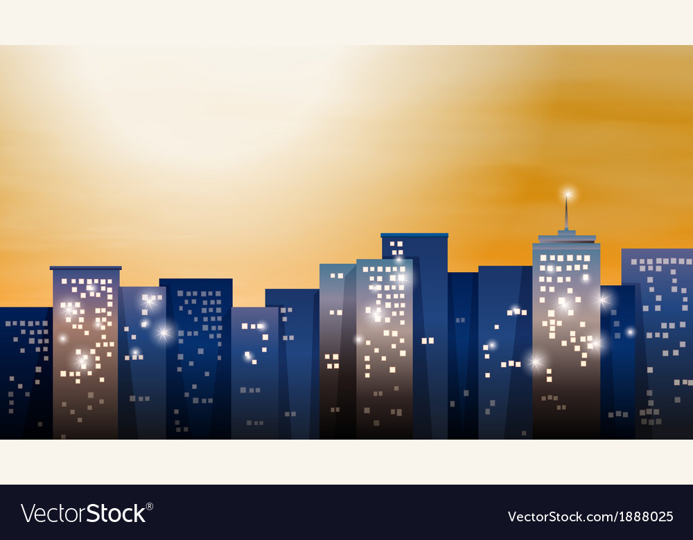 A view of the bright city vector | Price: 1 Credit (USD $1)