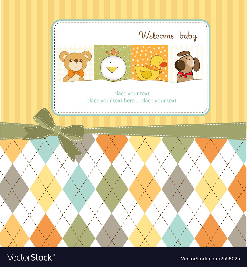 Baby shower announcement vector | Price: 1 Credit (USD $1)