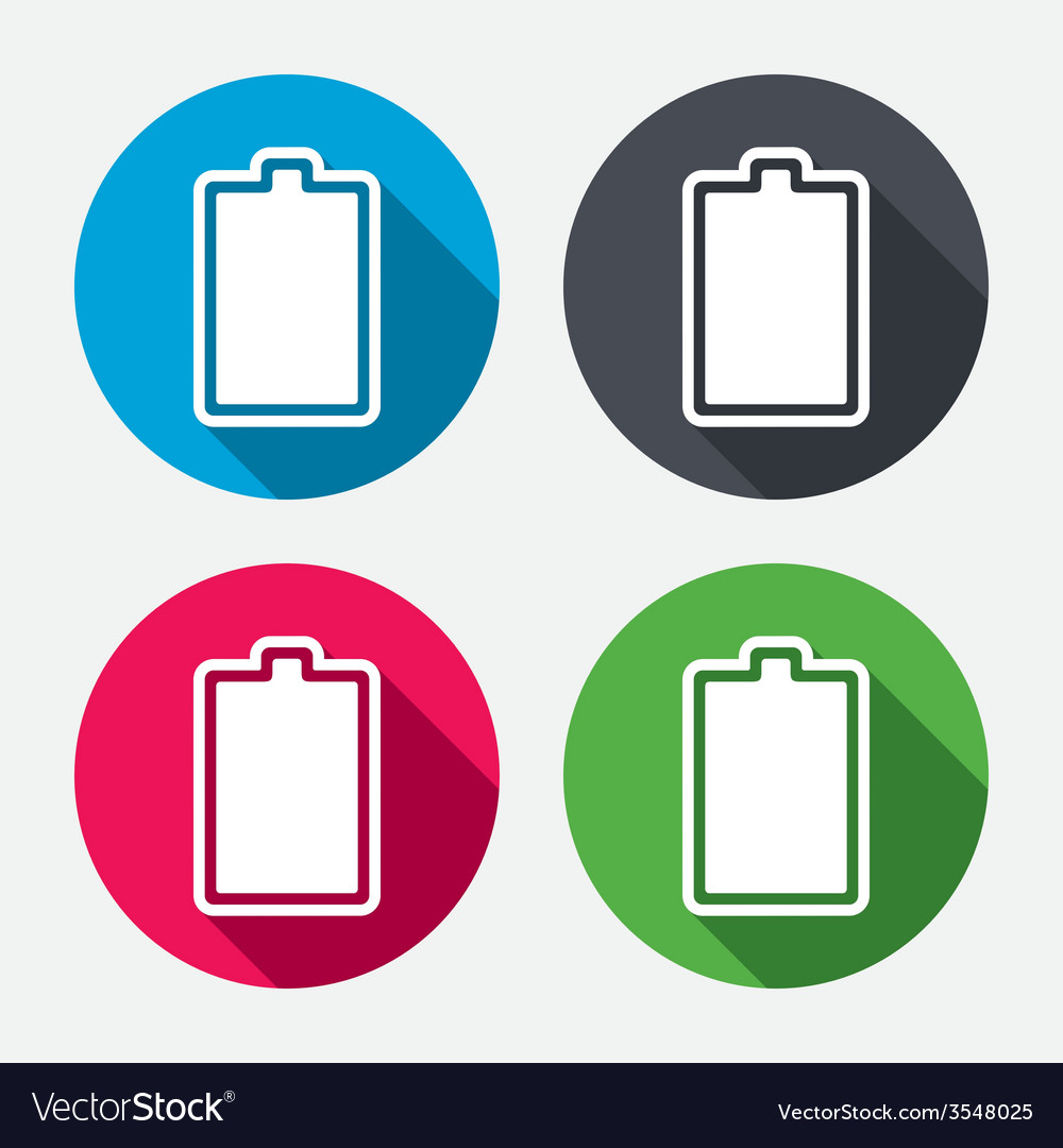 Battery fully charged sign icon electricity vector | Price: 1 Credit (USD $1)