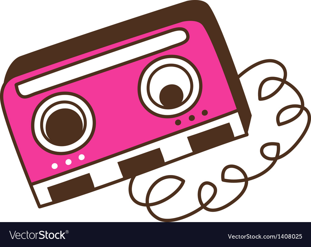 Broken cassette vector | Price: 1 Credit (USD $1)