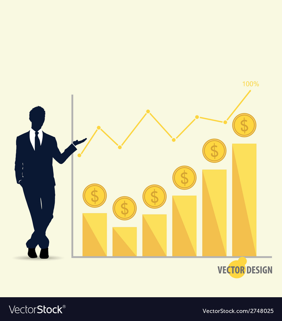 Businessman showing modern design graph business vector | Price: 1 Credit (USD $1)