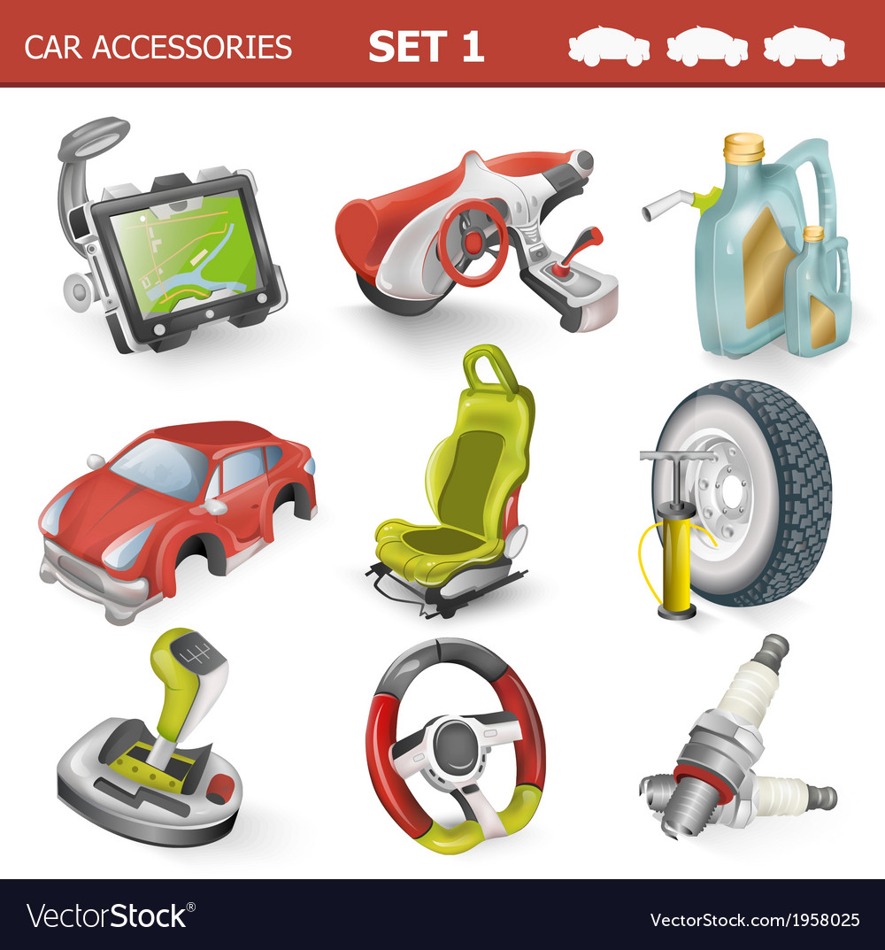 Car accessories vector | Price: 1 Credit (USD $1)