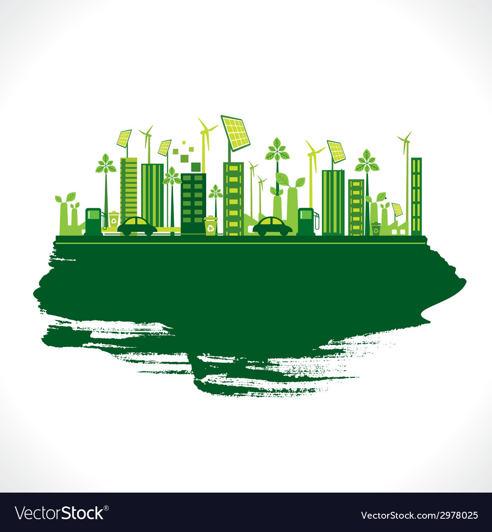 Creative design go green or save earth design vector | Price: 1 Credit (USD $1)