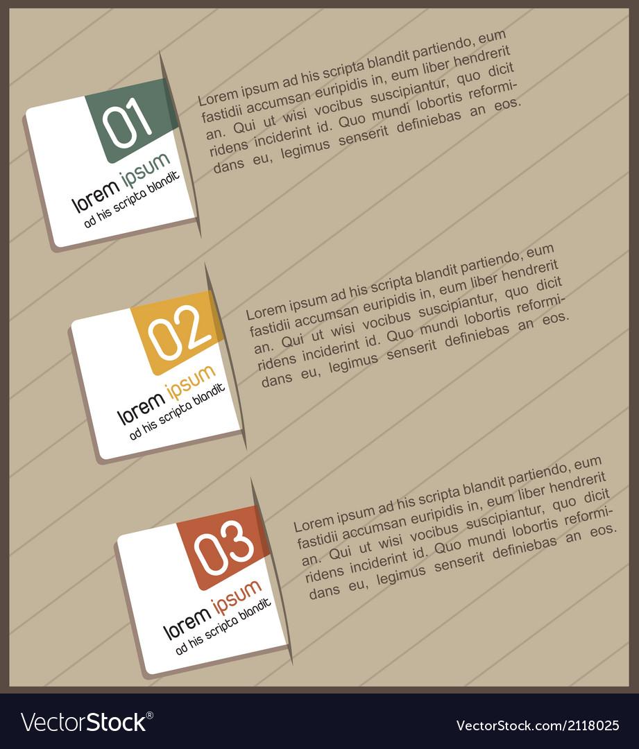 Design of advertisement numbers vector | Price: 1 Credit (USD $1)