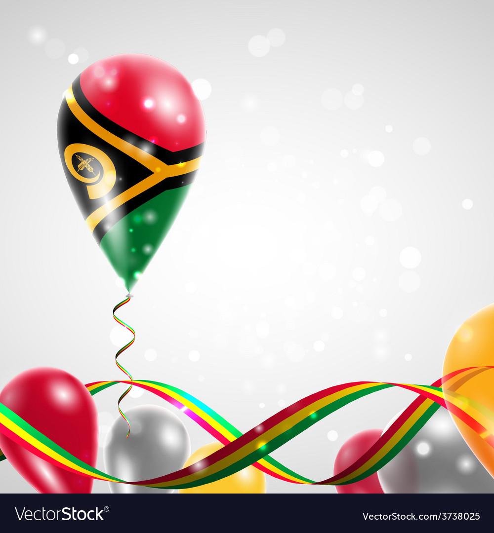Flag of vanuatu on balloon vector   Price: 3 Credit (USD $3)
