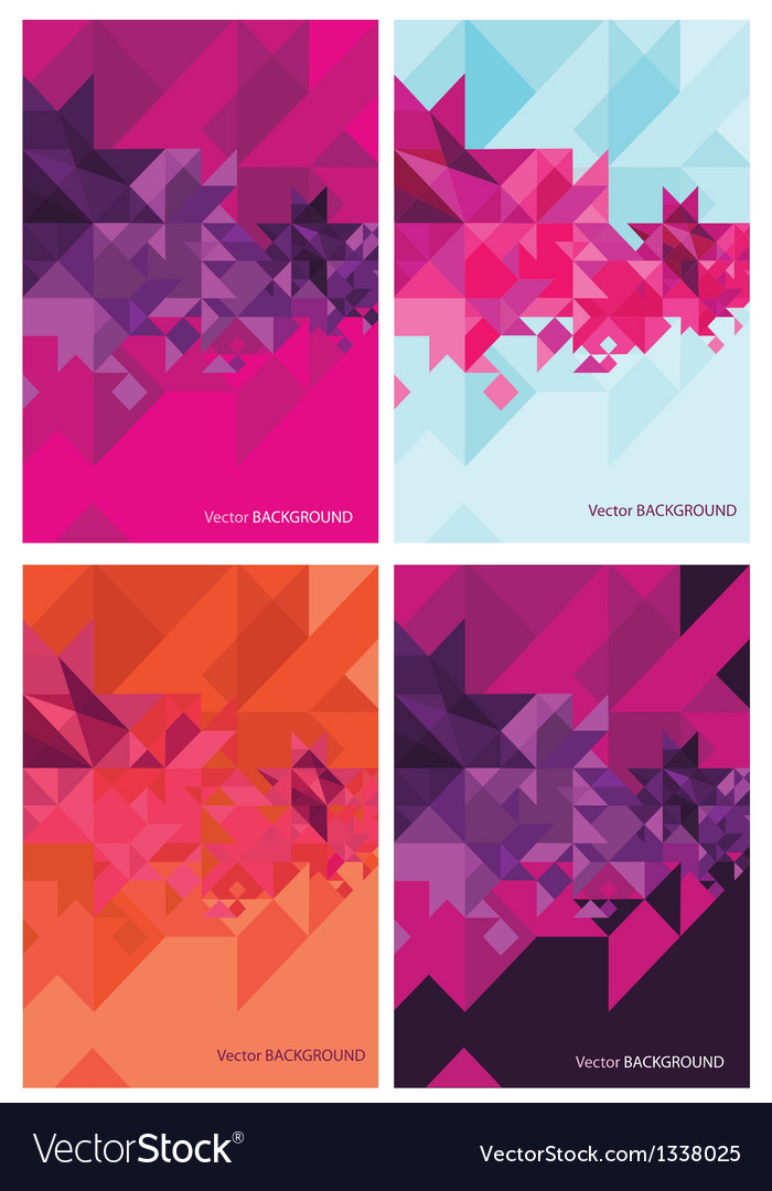 Four abstract backgrounds for design vector | Price: 1 Credit (USD $1)