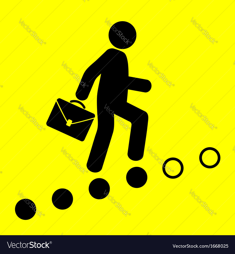 Man goes up the career ladder vector | Price: 1 Credit (USD $1)