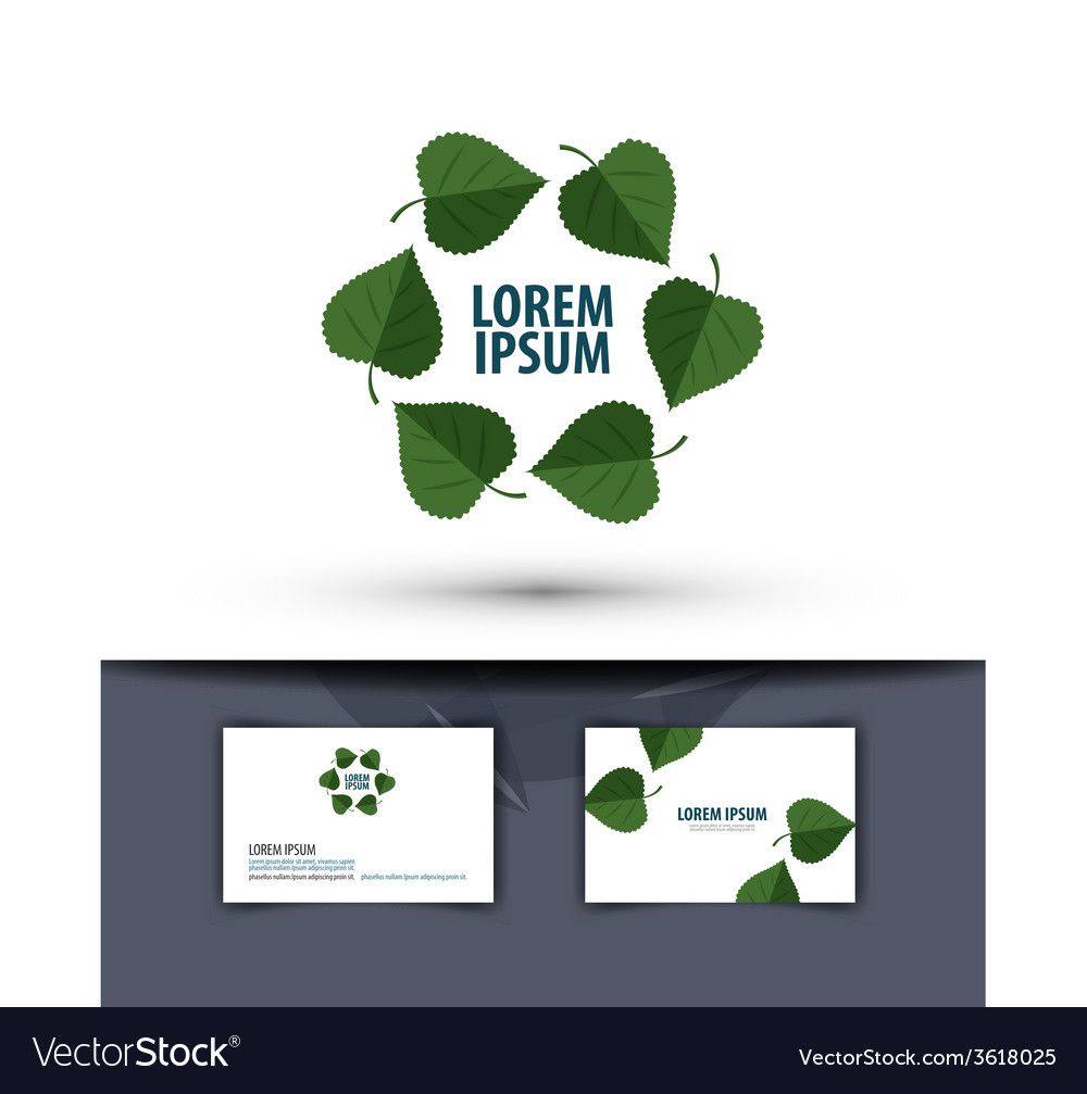 Nature leaves in the circle logo icon emblem vector | Price: 1 Credit (USD $1)