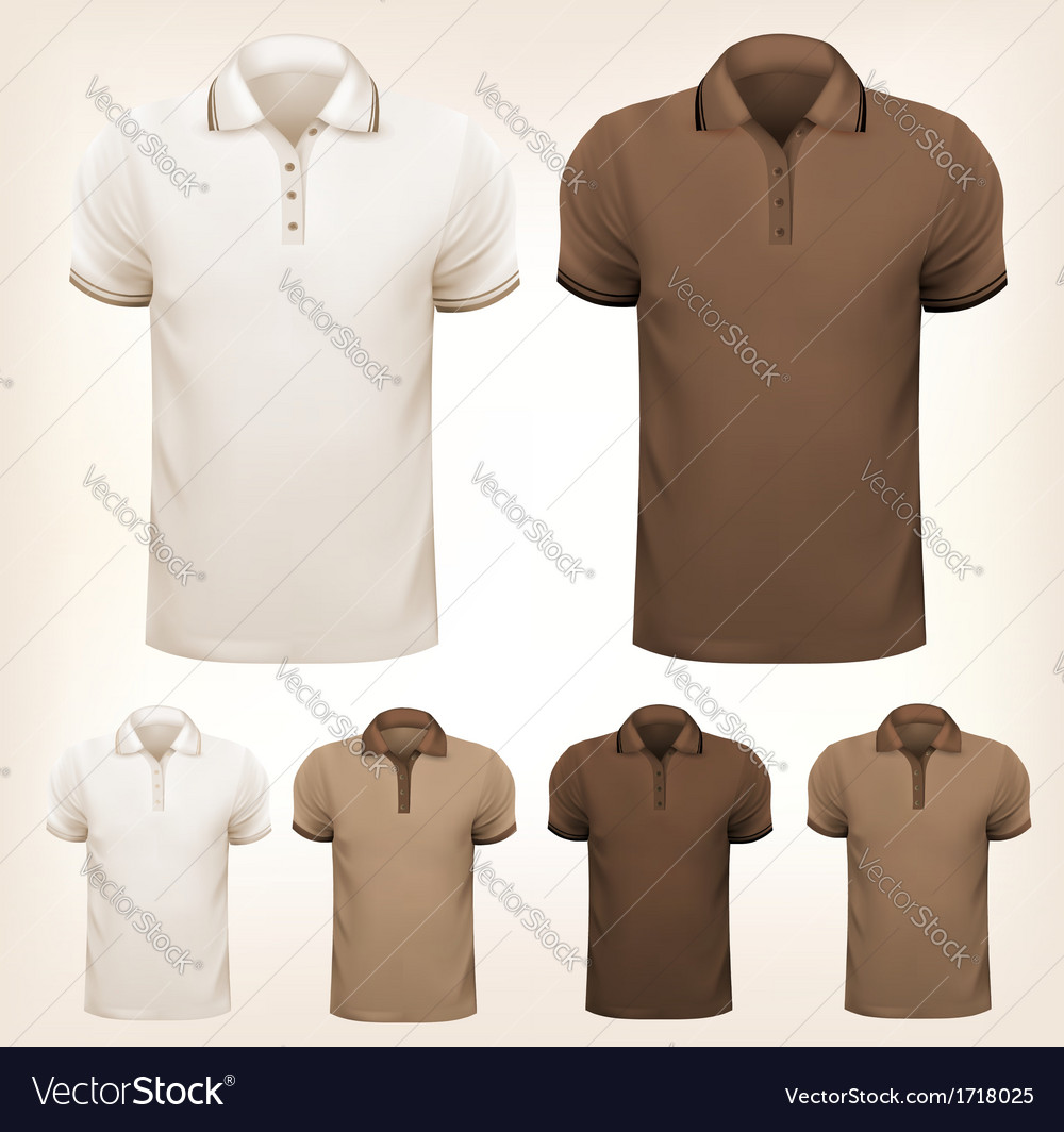 Retro set of colorful men t-shirts design template vector | Price: 1 Credit (USD $1)