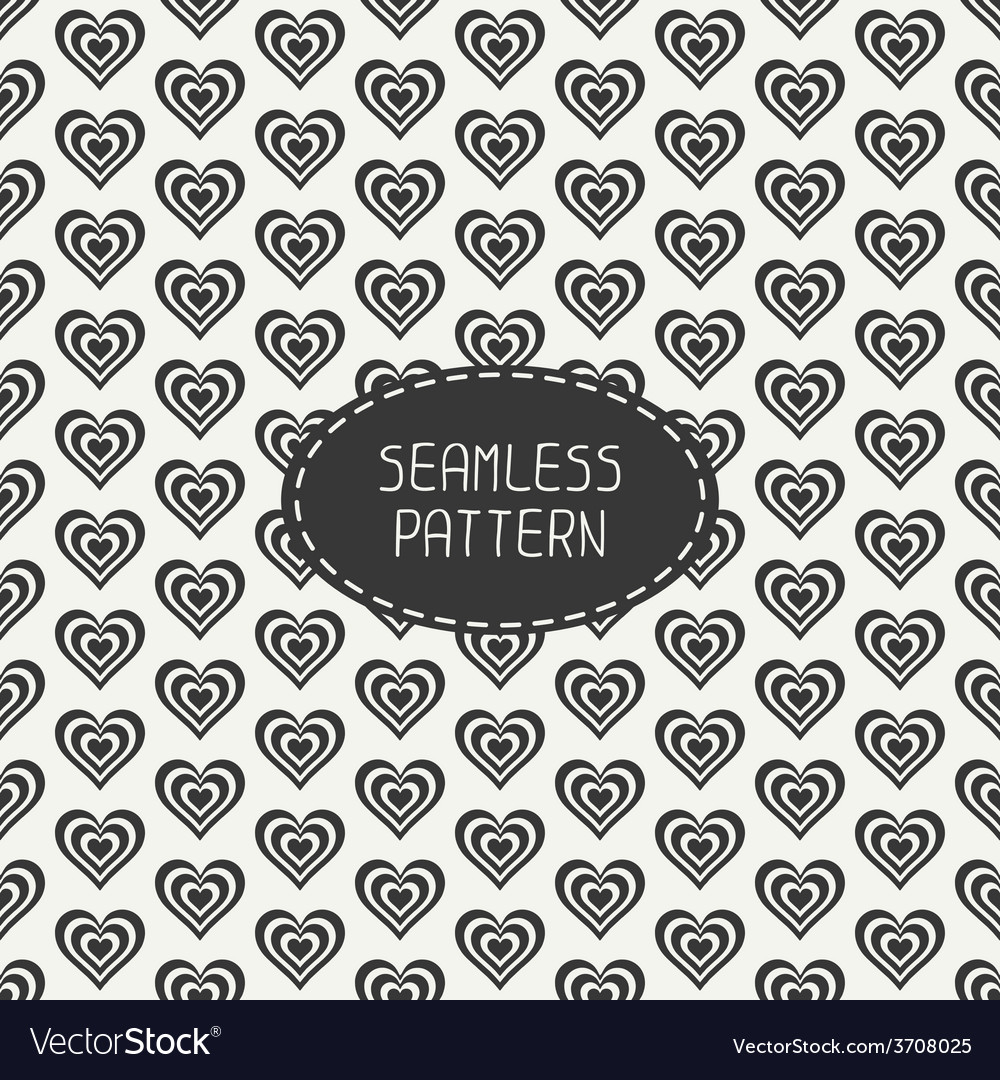 Romantic seamless pattern with hearts beautiful vector | Price: 1 Credit (USD $1)
