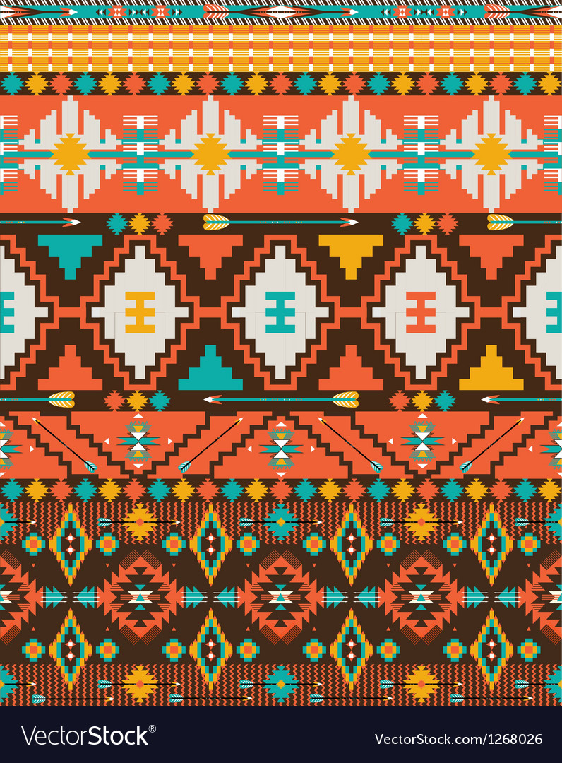 Aztec geometric seamless pattern vector | Price: 1 Credit (USD $1)