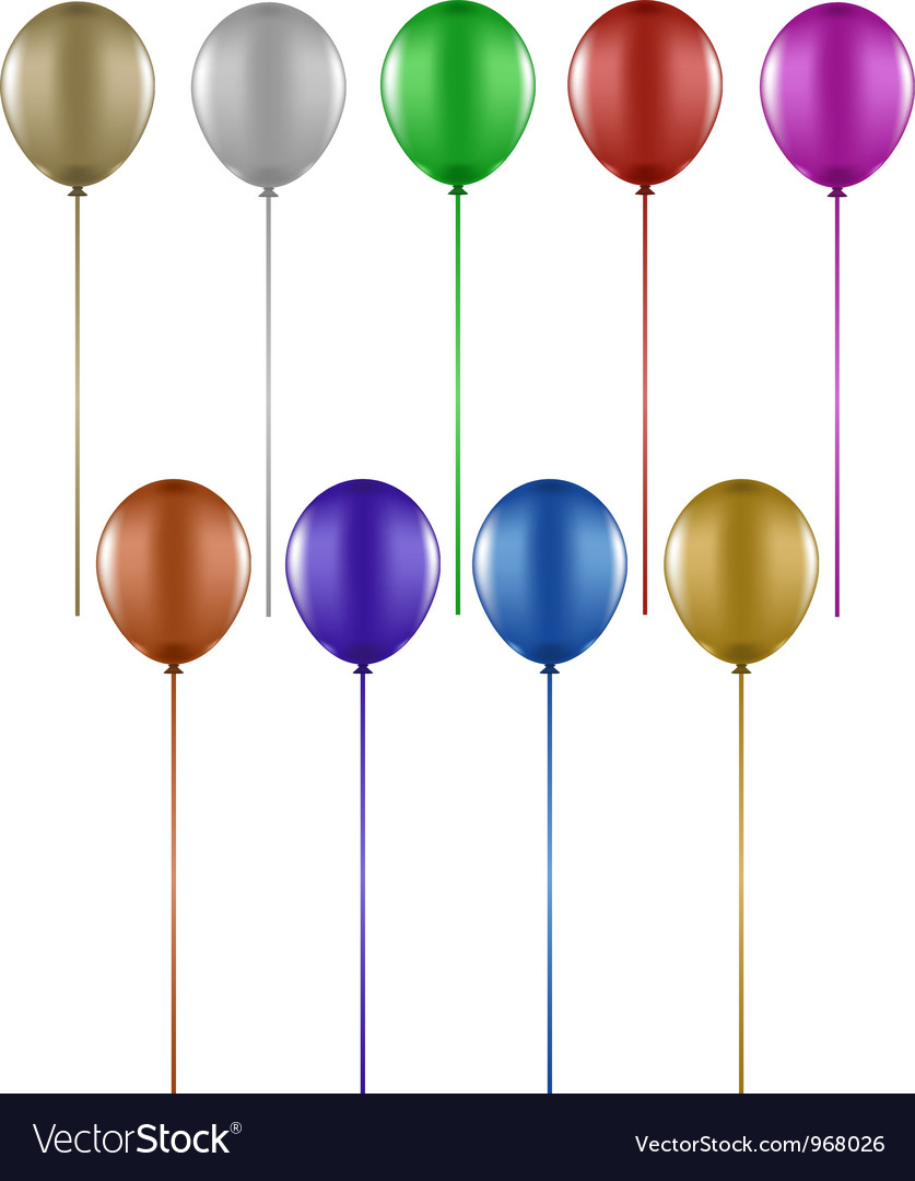 Colourful balloons vector | Price: 1 Credit (USD $1)
