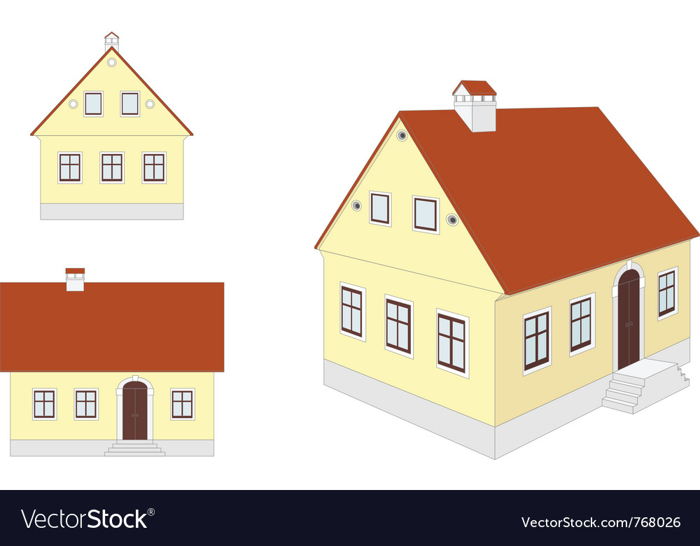 Countryside houses vector | Price: 1 Credit (USD $1)