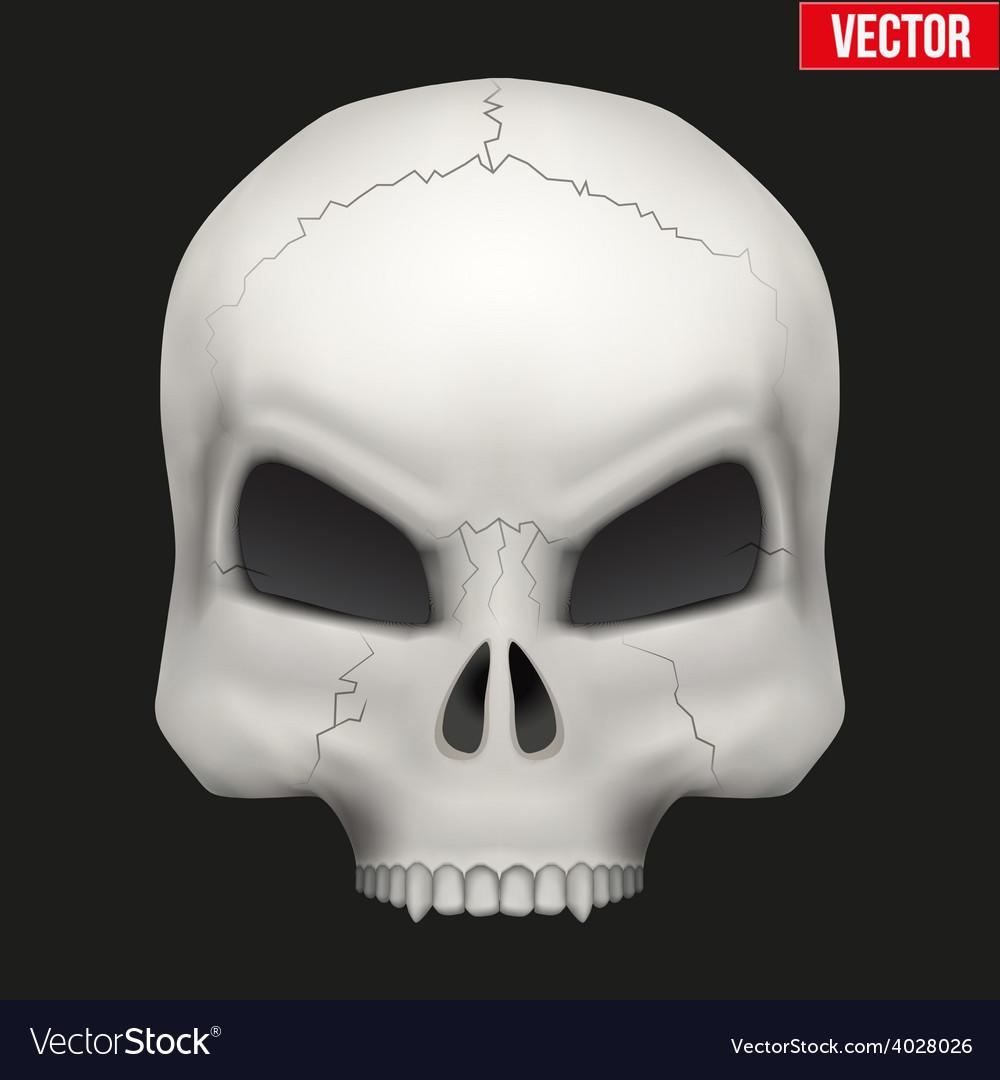 Creative human skull vector   Price: 1 Credit (USD $1)