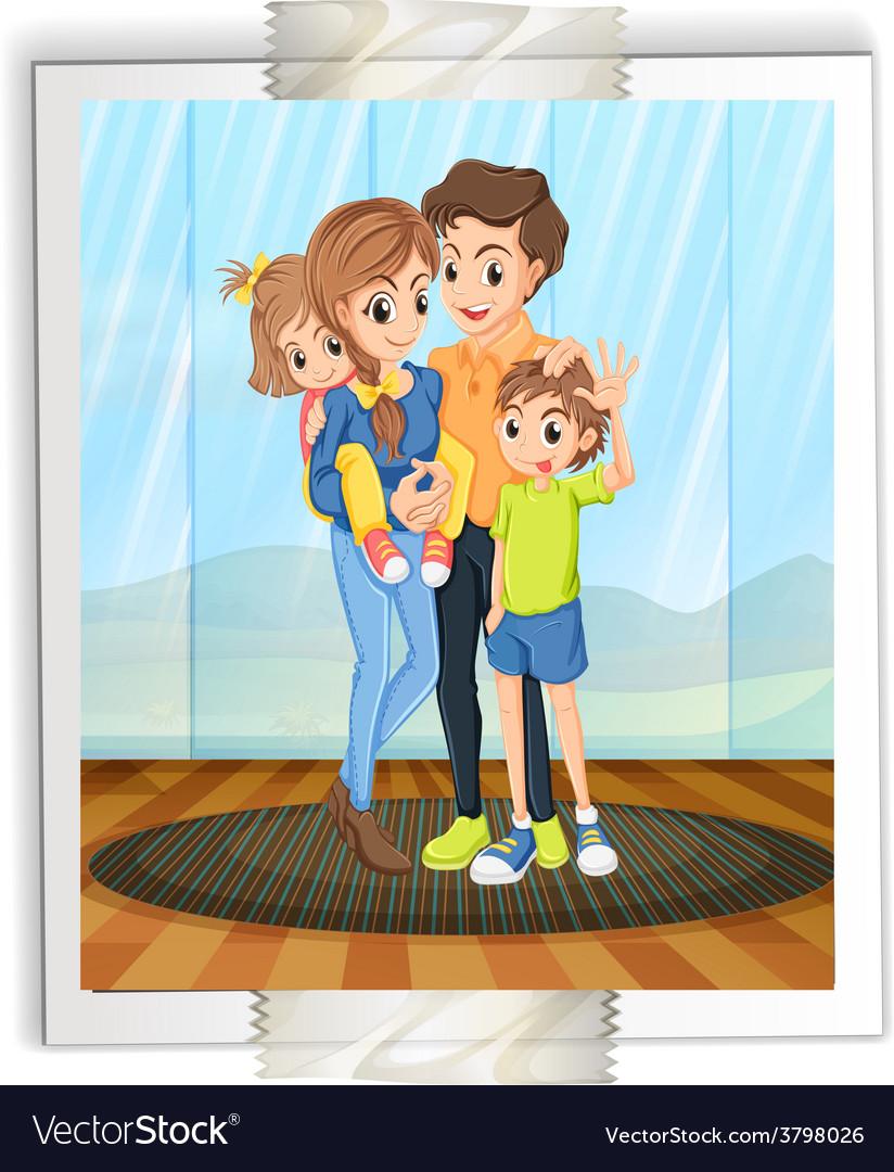 Family photo vector | Price: 1 Credit (USD $1)