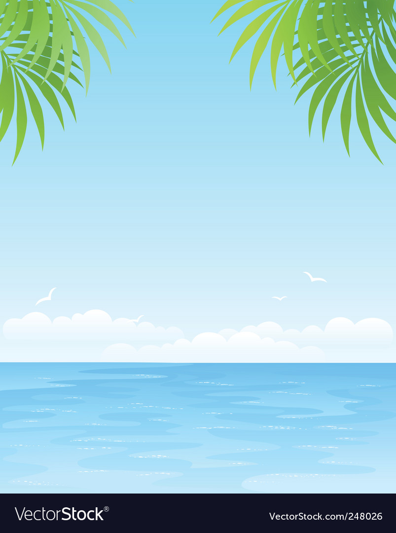 Ocean poster vector | Price: 1 Credit (USD $1)