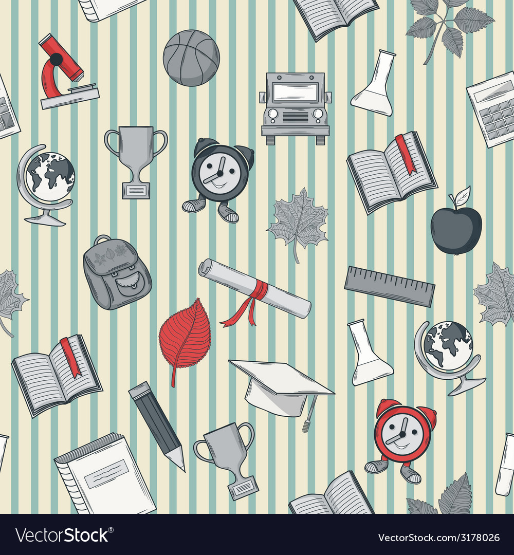 School pattern with line vector | Price: 1 Credit (USD $1)