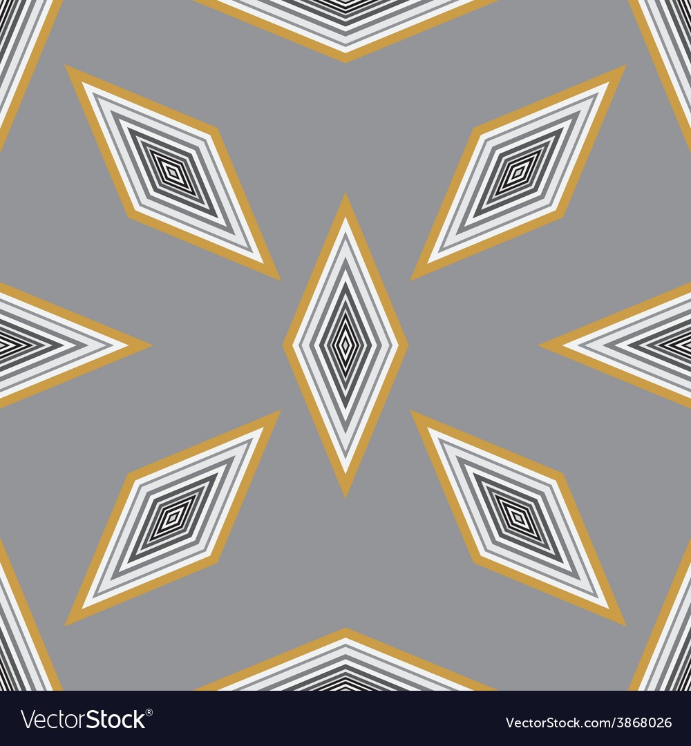 Seamless geometric pattern with a few diamonds vector | Price: 1 Credit (USD $1)