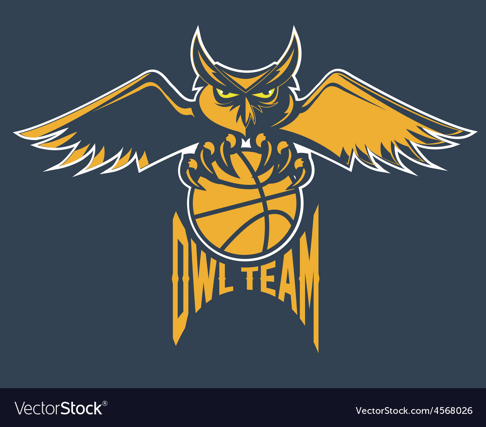 Sport basketball emblem owl team vector | Price: 1 Credit (USD $1)