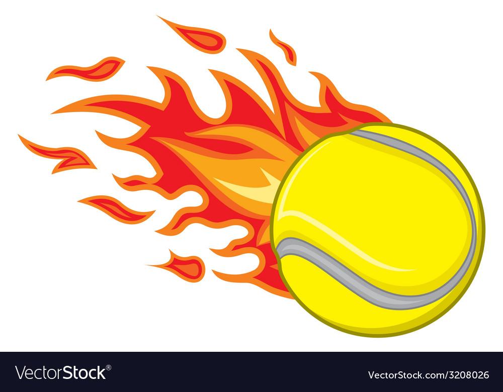 Teniska loptica vatra resize vector | Price: 1 Credit (USD $1)