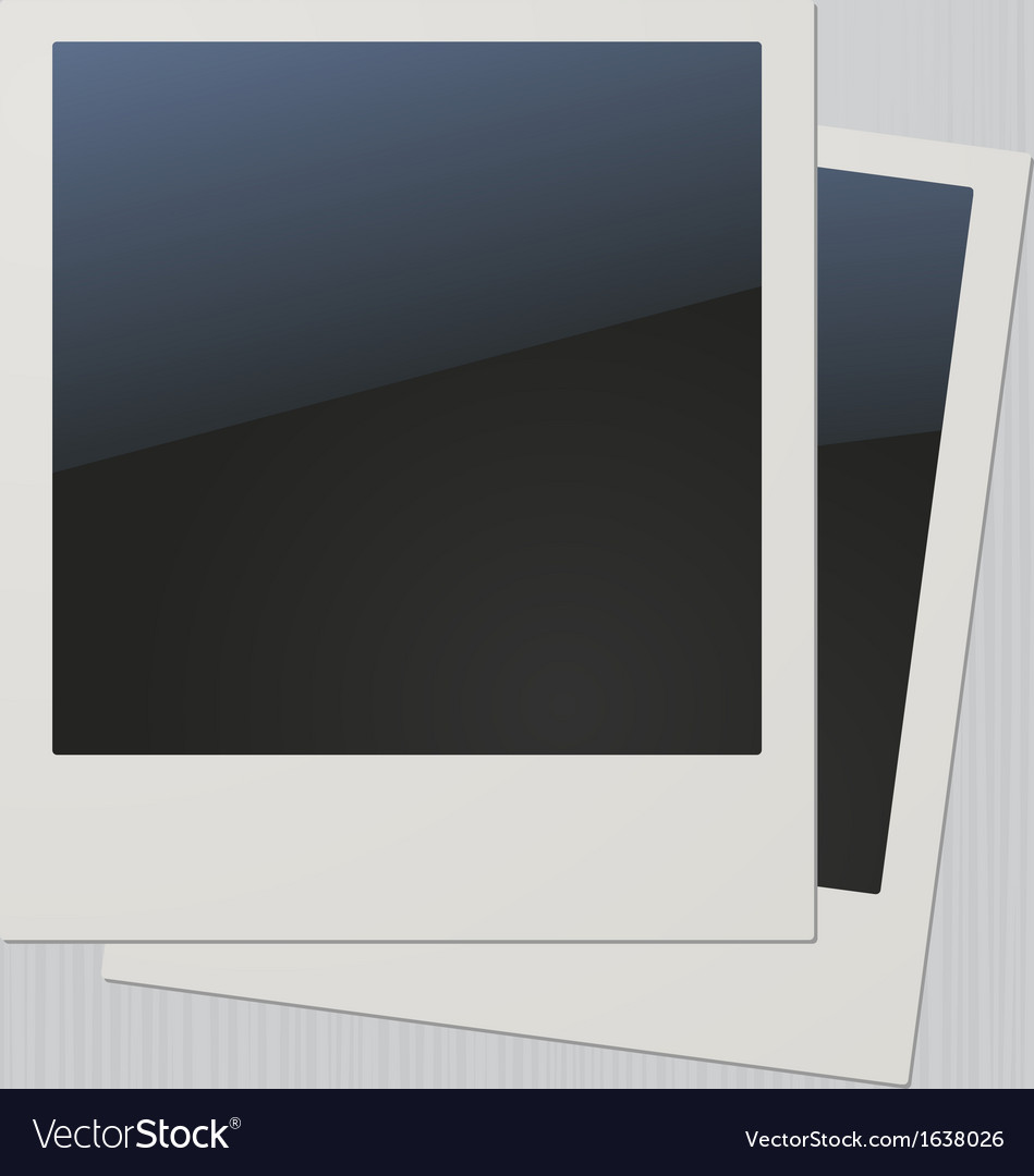 Two blank retro polaroid photo frames vector | Price: 1 Credit (USD $1)