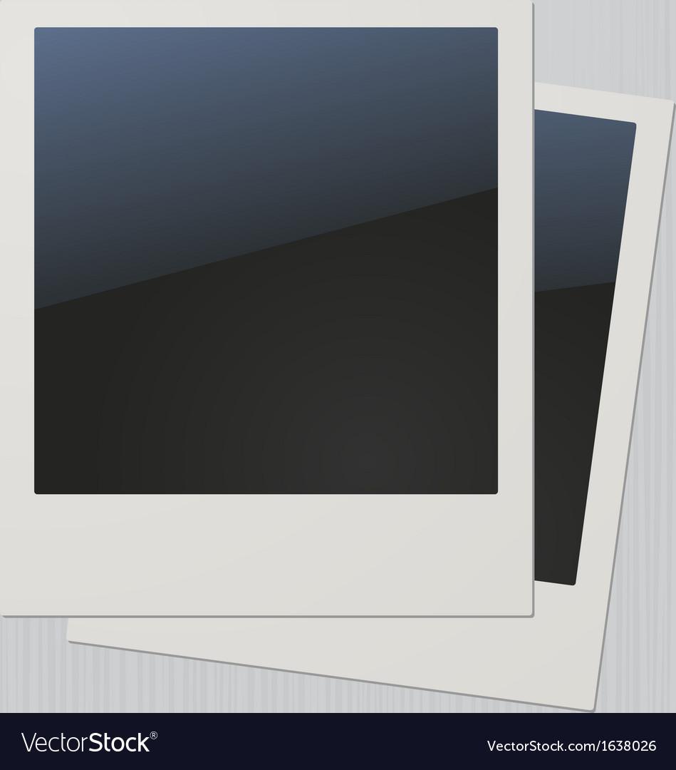 Two blank retro polaroid photo frames vector | Price: 1 Credit (USD $1)