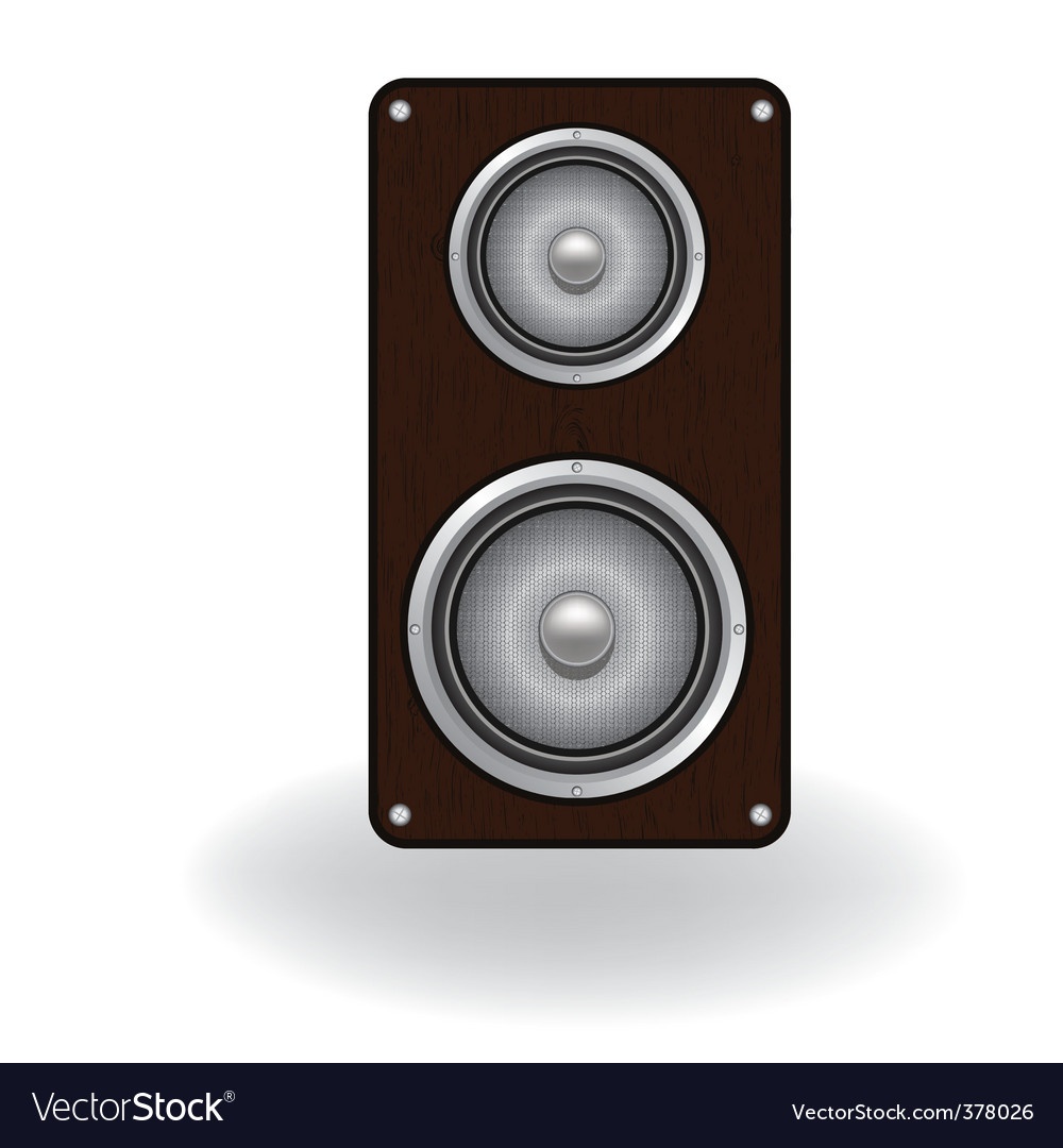 Wooden loud speaker vector | Price: 1 Credit (USD $1)
