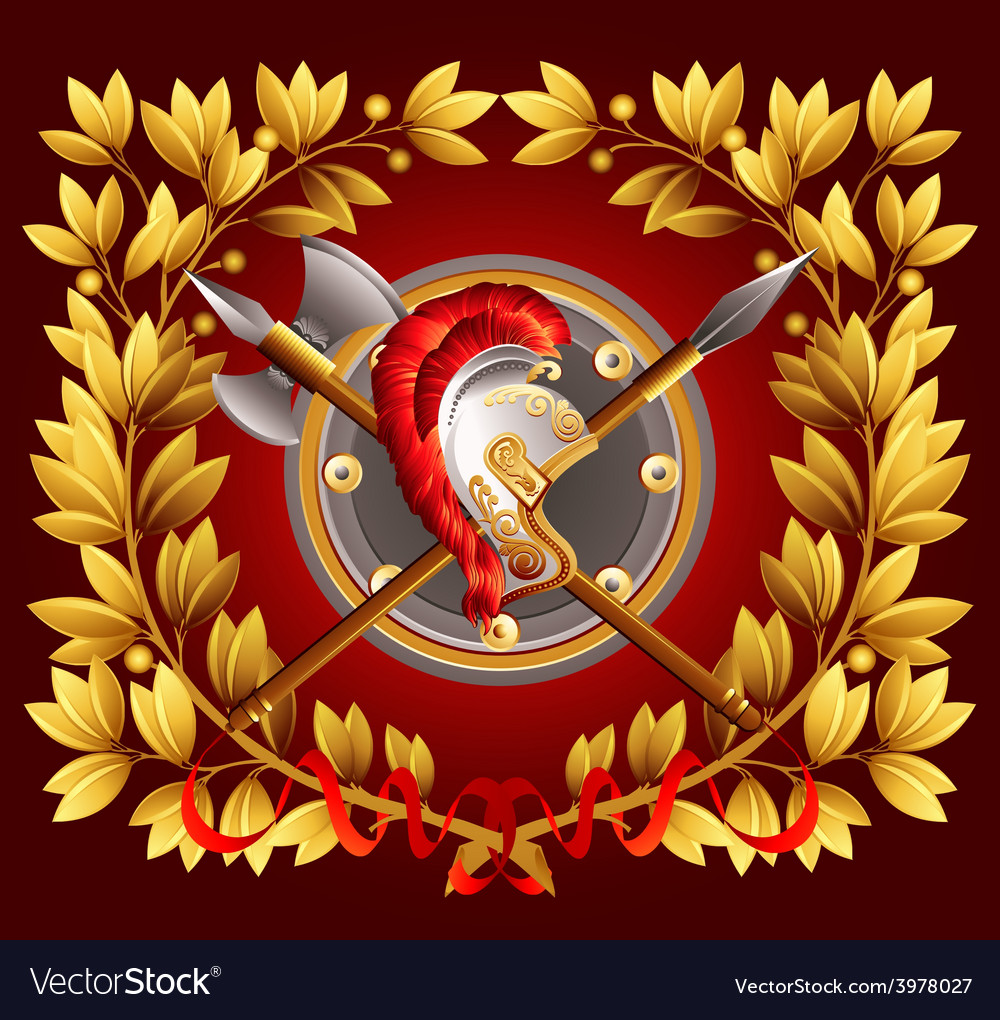Antique arms and a laurel wreath vector | Price: 3 Credit (USD $3)